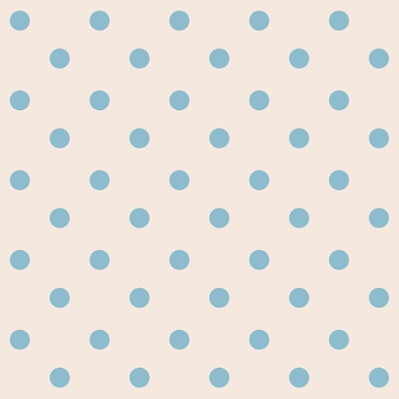 polka dot wallpaper: Dots cream blue seamless pattern  Illustration