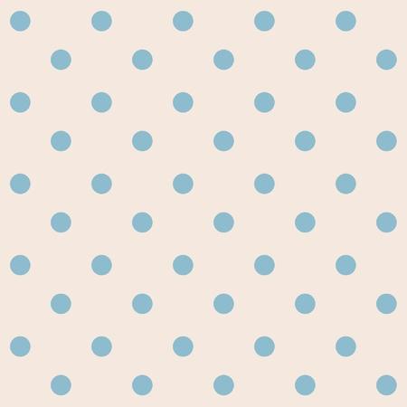 Dots modello crema blu senza soluzione di continuità Vettoriali