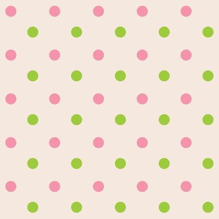 Puntos crema rosa transparente de color verde,