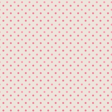 Polka dots, seamless pattern, grey, mixed pink  Vector