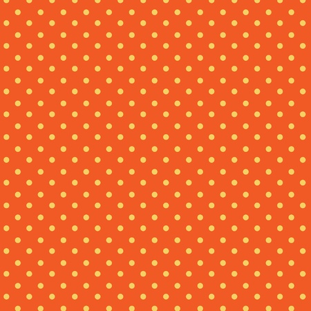 Polka dots seamless pattern, orange, yellow Vector
