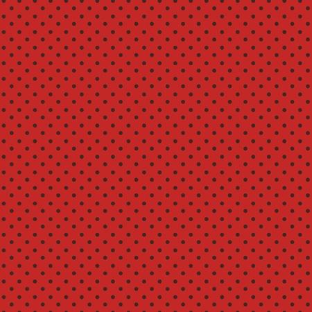 red polka dots: Lunares de patrones sin fisuras, puntos negros sobre rojo