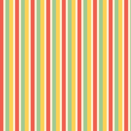 vertical lines: Green, yellow,  red and cream stripes background