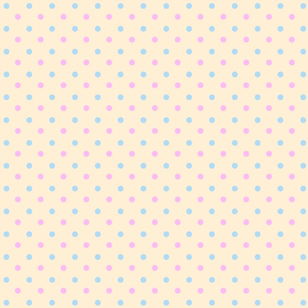 Retro polka dots pattern, background  Ilustrace
