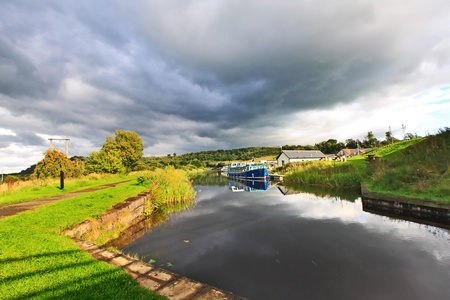 Forth   Clyde Canal, Scotland Stock Photo - 13043425
