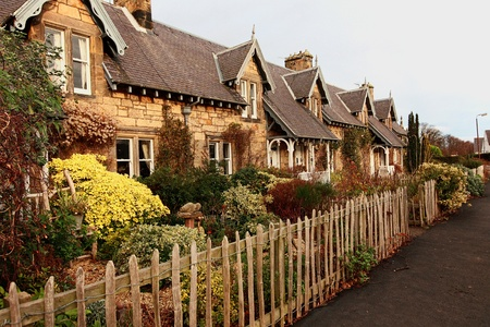 Beautiful, old, traditional Scottish houses  photo
