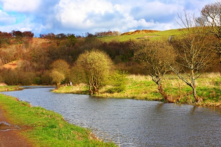 Forth and Clyde Canal in Springtime, Scotland Stock Photo - 13594866