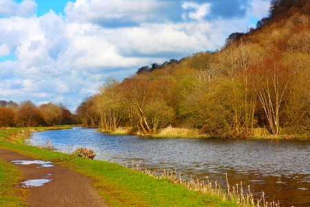 Forth and Clyde Canal in Springtime, Scotland photo