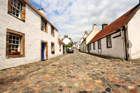 burgh: Old houses in Culross, the former royal burgh in Fife, Scotland founded in 6th century