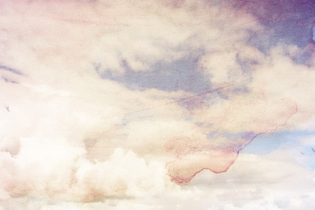 Grungy background with clouds Stock Photo - 13985336