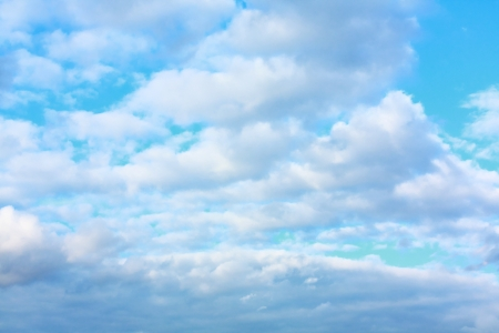 Bluse sky with white clouds background