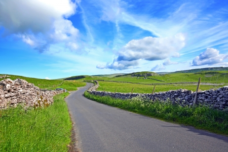 english countryside: Yorskshire Dales on a beautiful suny day Stock Photo