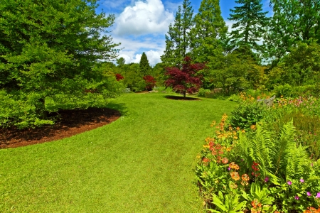 Garden landscaping, Srpingtime
