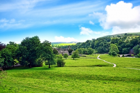 abbey: Bolton Abbey in North Yorkshire, England