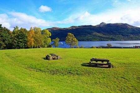 loch lomond: Loch Lomond in October, Scotland, UK