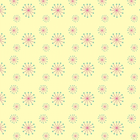 Blooming dandellion seamless vector pattern  Stock Vector - 16984341