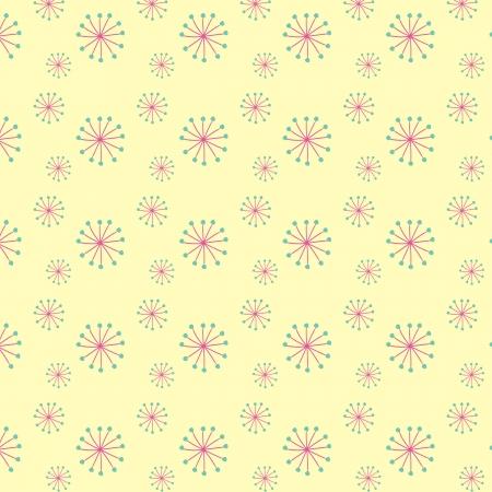 Blooming dandellion seamless vector pattern Stock Vector - 16984341