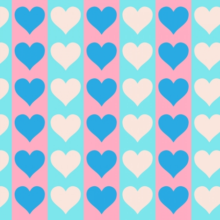 Lovely small hearts seamless vector pattern Stock Vector - 16984347