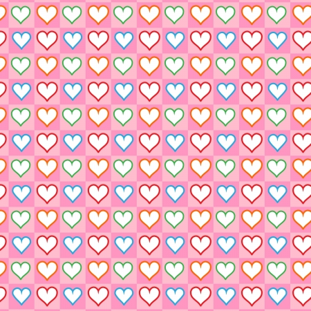 Lovely small hearts seamless pattern Stock Vector - 16984351