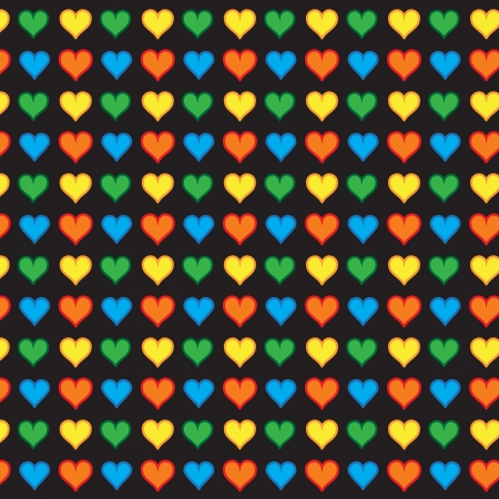 Lovely small hearts seamless pattern Vector