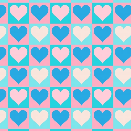 Lovely small hearts seamless vector pattern Stock Vector - 16984348