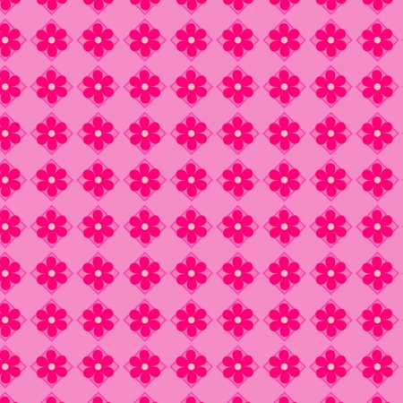 Pink flowers seamless vector background Vector