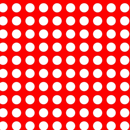 White polka dots on red seamless Vector