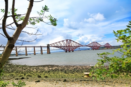 A landscape with the Forth Rail Bridge photo