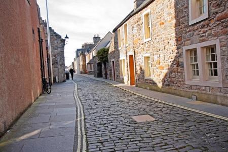 Old street in St Andrews, Scotland, UK  photo