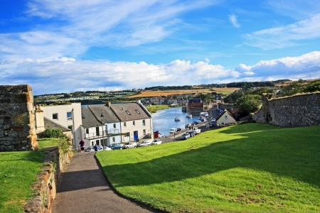 andrews: Panorama of St Andrews, Fife, Scotland, United Kingdom