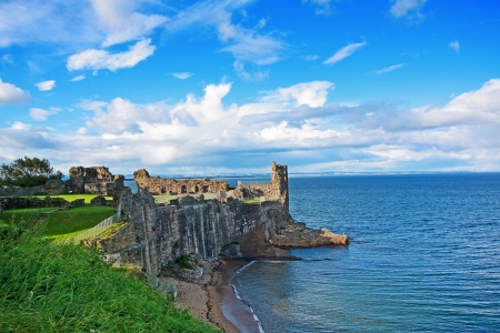 Ruins of St Andrews Castle, Fife, Scotland, United Kingdom Stock Photo
