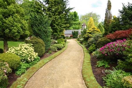 Mooie voorjaar tuinontwerp Stockfoto