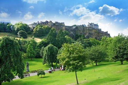 Princes Street Gardens On Summer Day In Edinburgh, Scotland Stock ...