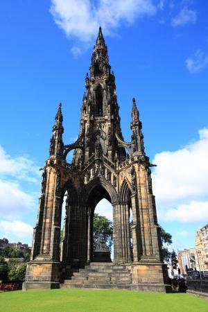 scott: The walter scott monument on princess street, Edinburgh, Scotland