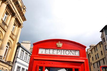 phonebox: Red british phonebox in Edinburgh, Scotland