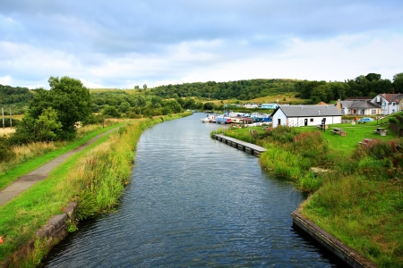 Forth and Clyde Canal, Scotland on Summer day photo