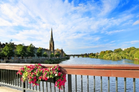 The River Tay on a summer day,  Perth Scotland