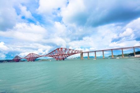 Forth railway bridge near Edinburgh, photo