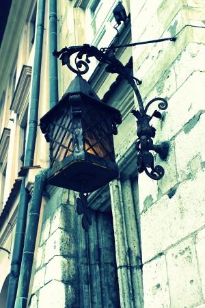 Old stylish street lamp photo