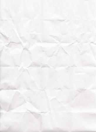 white textured paper: White wrinkled paper textured background