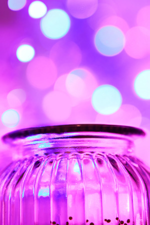 glas: Magical glas jar and bokeh lights close up
