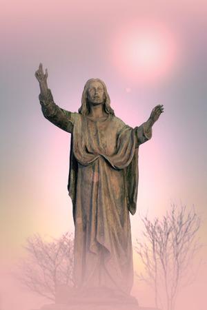Jesus Christ monument, artistic background