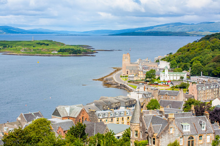 Oban resort town within the Argyll and Bute council area of Scotland Reklamní fotografie