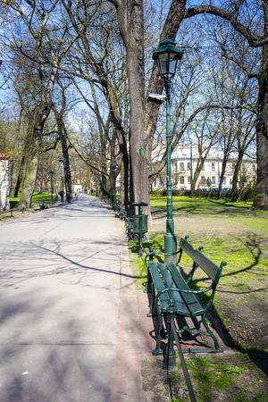 krakow: Planty park in Krakow, Poland