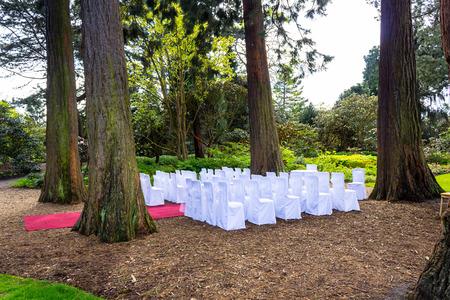 botanic: Beautiful botanic garden in Spring. Wedding settings in botanic garden Spring time.