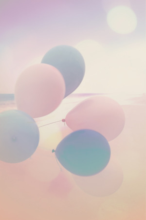 baloons: Artistic background with colorful baloons Stock Photo