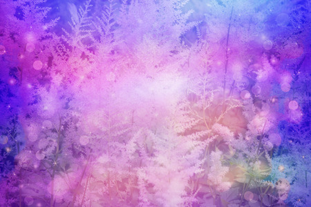 dreamy: Dreamy beautiful floral background with bokeh lights Stock Photo