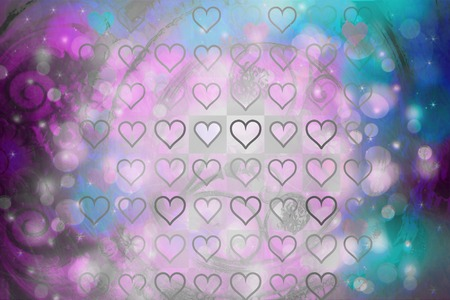 glistening: Colorful abstract background with heart pattern