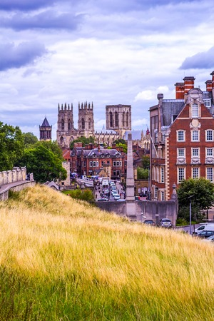 minster: Panorama of the city of York with the view of York Minster, England, UK, Summer 2015