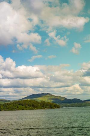 loch lomond: Beautiful landscape of Loch Lomond lake in Luss, Argyll&Bute in Scotland, UK